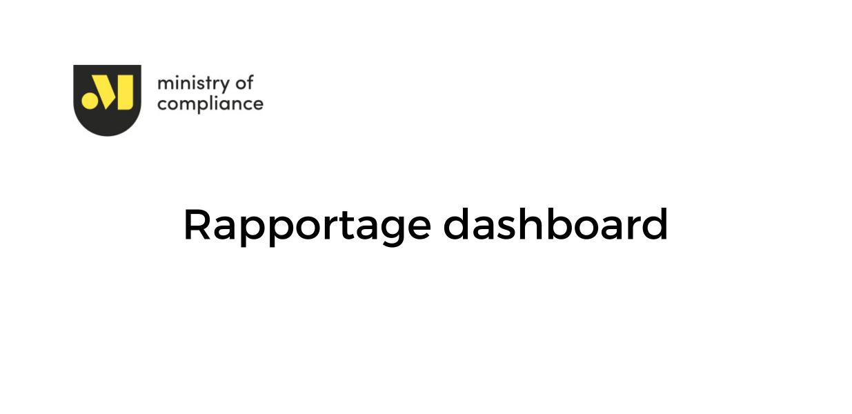 Rapportage dashboard